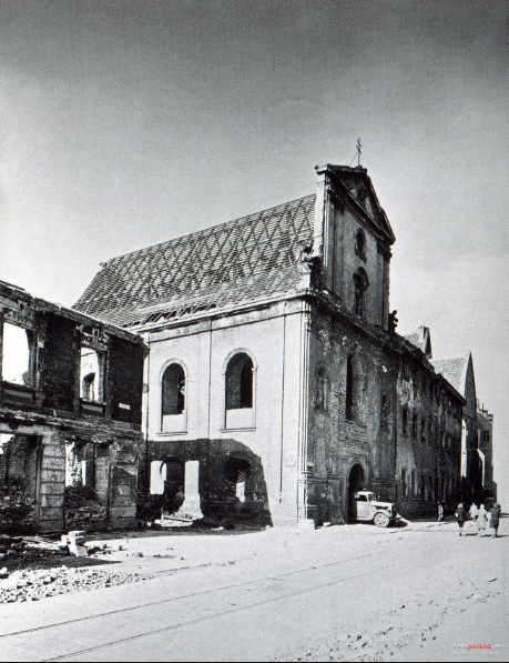 10 października 1948 , Odbudowa kościoła św. Anny. źródło:  Muzeum Architektury we Wrocławiu